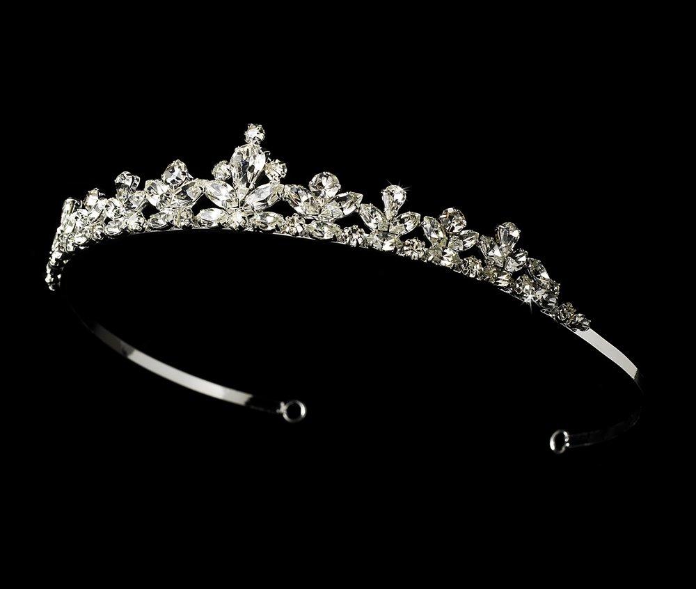 Silver Clear Rhinestone Crystal Bridal Tiara Headband
