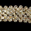 Gold Rhinestone Crystal Bridal Headband Tiara
