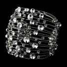 Sterling Silver Genuine Crystal Cuff Bracelet