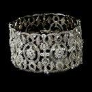Vintage Silver Swarovski Crystal Cuff Bracelet