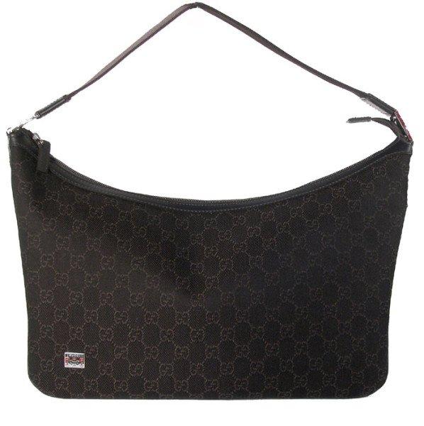 Gucci 211523 Medium Hobo Brown Handbag Purse