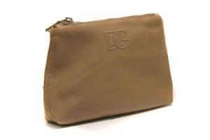 Dolce & Gabbana DG BP2008  Beige Leather Coin Purse