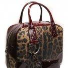 Dolce & Gabbana DG BB2632 Leopard Burgundy Handbag