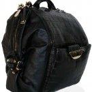 Versace 4 in 1 Black Leather Oversized Handbag Tote