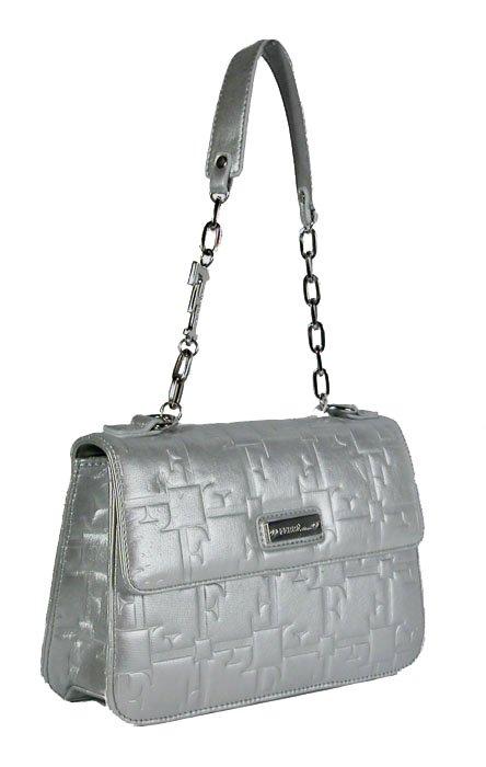 Gianfranco Ferre 67 TXDBHL 80625 Silver Leather Handbag
