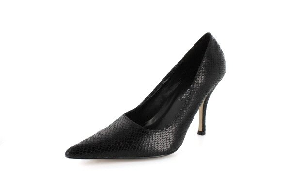 NEW Black Snakeskin Pointy Toe Pumps Womens Shoes