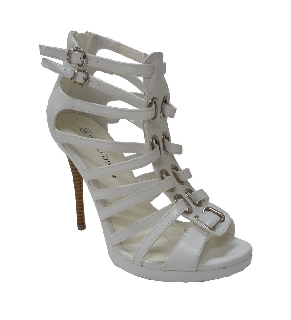 NEW White Strappy High Heels Shoes