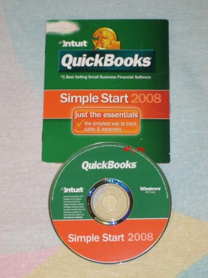 ***NEW*** INTUIT QUICKBOOKS SIMPLE START 2008 SEALED