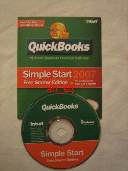 **NEW** 2007 Intuit QuickBooks Simple Start Sealed