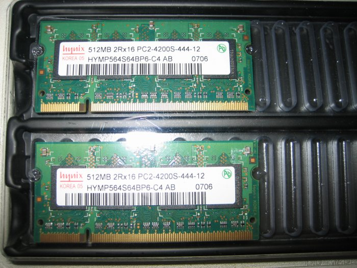Korean Hynix Laptop Memory 1GB PC 4200 DDR2 PC4200 DDR