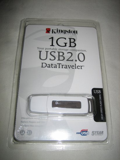 Kingston 1 GB DataTraveler USB Flash Drive (DTI/1GBKR)