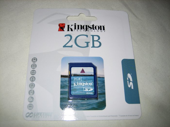 Kingston 2GB Secure Digital Card SD - SD/2GBKR