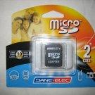 Brand New Sealed Dane-Elec 2GB microSD Secure Digital SD Card - DA-SDMC-2048-R