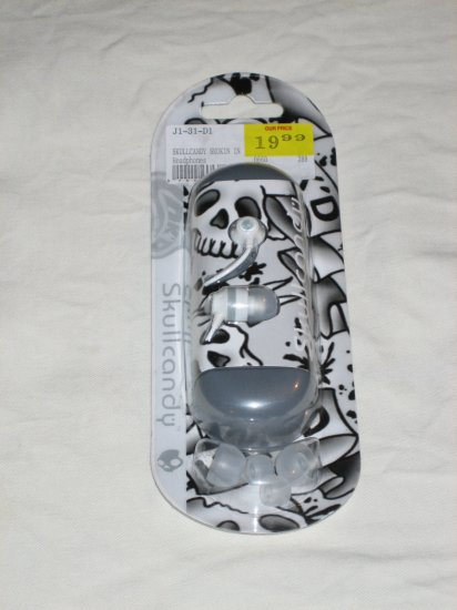Brand New Skullcandy INK'D Smokin' Buds Earbuds White