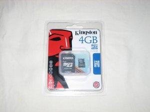 Kingston 4GB microSDHC Secure Digital Flash Card - SDC4/4GB