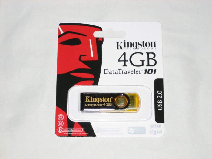 Kingston 4 GB Data Traveler 101 USB Flash Drive (DT101Y/4GB)