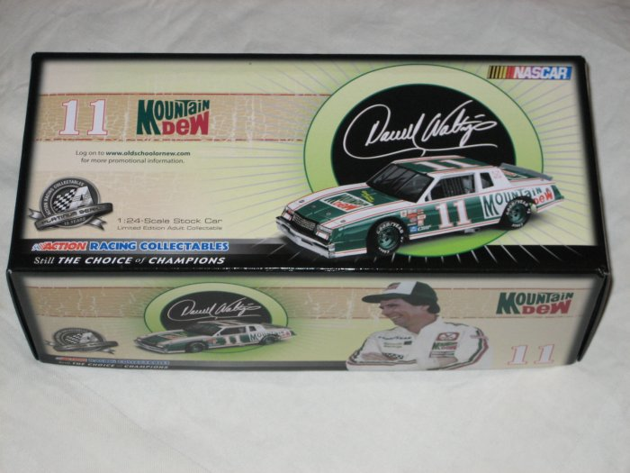 Darrell Waltrip #11 Mountain Dew Retro Old School New School 2008 Buick Regal Diecast Die-Cast