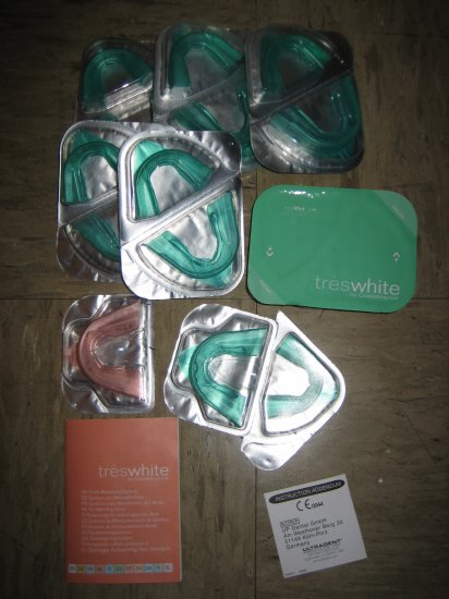 Brand New Opalescence pre-loaded whitening trays Treswhite