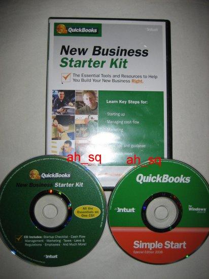 ***NEW*** Intuit QuickBooks Business Starter Kit Simple 2 CD