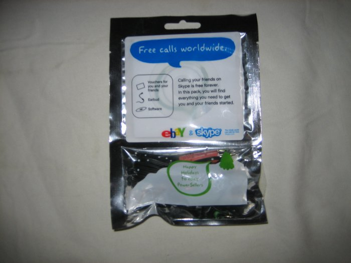 Skype Software and Ear Piece with Microphone