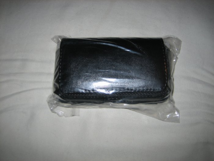 Brand New Smart Phone Black Leather Texture Horizontal Holster Carrying Case With Clip