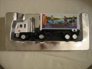 Brand New Mini Container White Truck Heavy Gauge Die-Cast Pull Back Action!