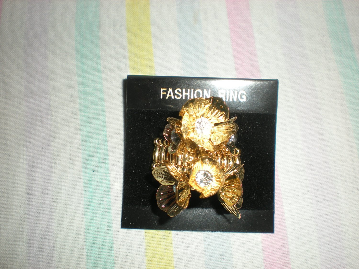 Brand New Fashion Stretch Ring Lady Party Jewelry GOLD