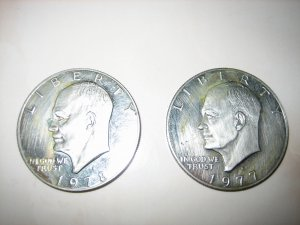 Circulated Ike Eisenhower Dollar USA Proof 1977S 1978S