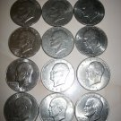 10 Circulated Ike Eisenhower Dollars USA 1971 1972 1974 1976 1977 1978