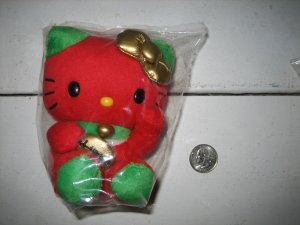 "Brand New Authentic 5"" inches Sandrio Hello Kitty Strawberry Style Limited Edition Fortune Plush Toy"
