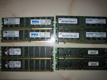 PC3200U DDR 2x1GB DDR RAM Memory 2GB excellent condition