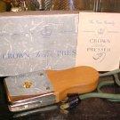 Crown Electric Hand Presser Circa 1940's 1950's $12