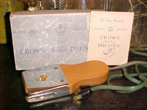 Crown Electric Hand Presser Circa 1940's 1950's $12