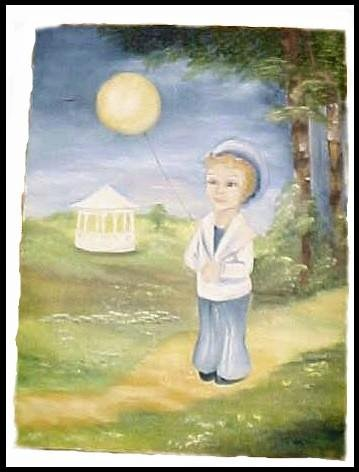 Little Boy Blue Vintage Sailor Boy Painting Nursrey $30