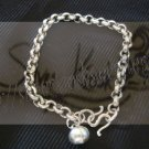 B03plain bracelet with round bell
