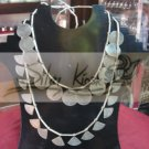 N019 necklace 2 layer with circle&triangle dendants