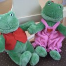 "Hallmark Pair  Frog Lovers Male & Female Velcro Hands 9"" Valentine"