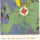 "1944 Vintage Ad - Lockheed Aircraft ""Blast the hub and smash the wheel!"" WWII WW2"