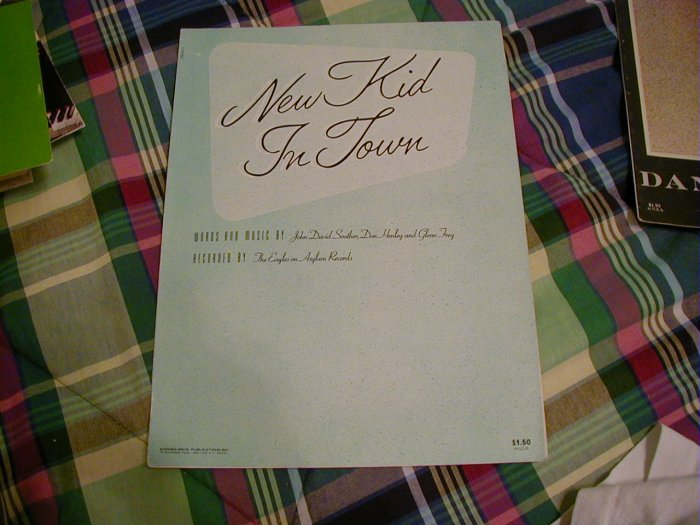 NEW KID IN TOWN SHEET MUSIC John David Souther, Don Henley Gleen Frey Eagles 1977