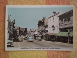 VINTAGE COMMERCIAL ST NANAIMO VANCOUVER ISLAND CANADA POSTCARD SCENEOCHROM GOWEN SUTTON