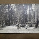 VINTAGE POSTCARD CAMPGROUND MONO HOT SPRINGS CA Parker Studio #2012 RPPC
