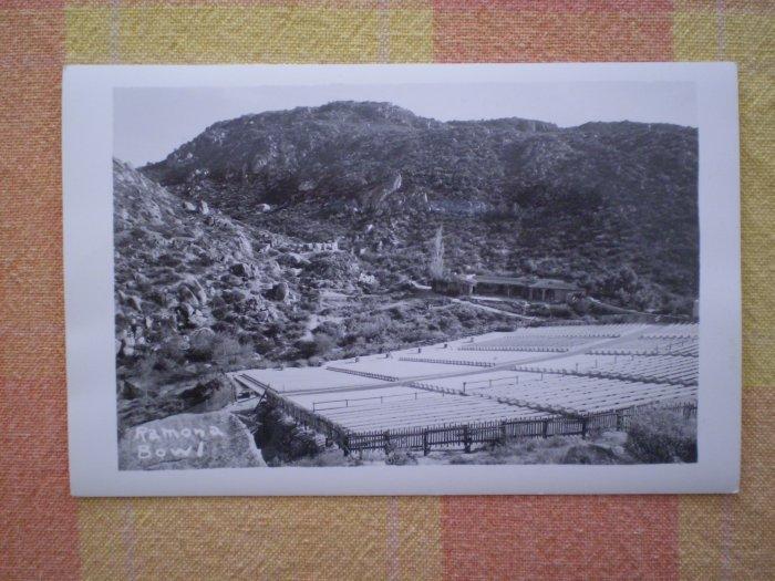 Vintage Postcard RAMONA BOWL rppc CALIFORNIA