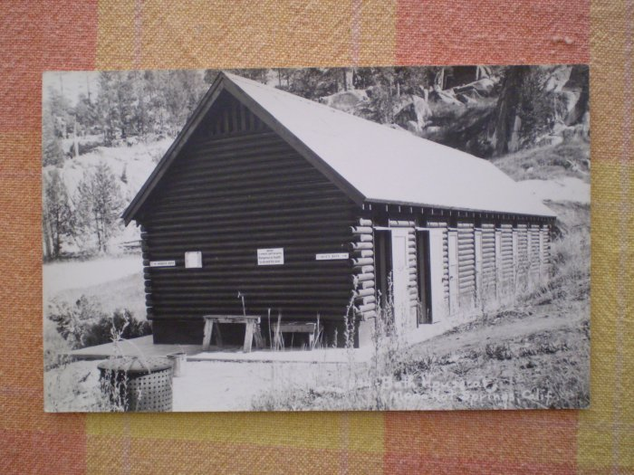 VINTAGE POSTCARD BATH HOUSES MONO HOT SPRINGS CA #1834 RPPC