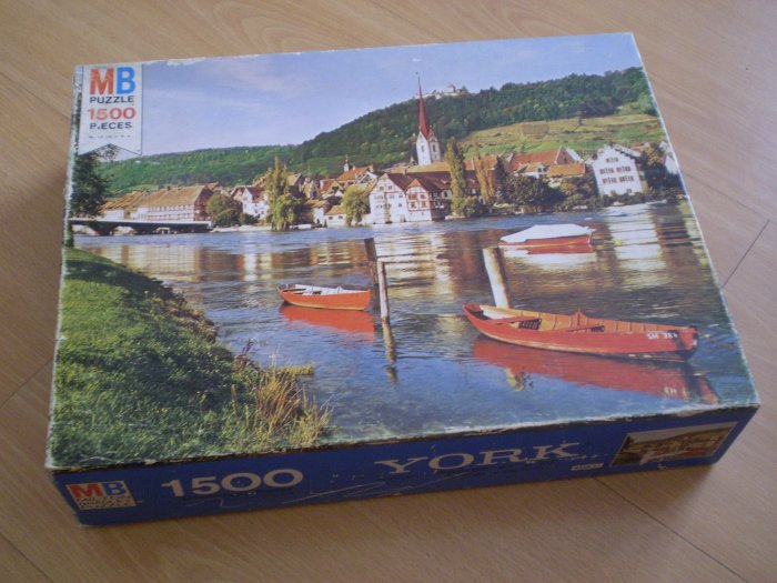 "Vintage 1975 Jigsaw Puzzle Milton Bradley YORK #11 STEIN ON THE RHINE 1500pcs  ""NEW"" 4335-11 MB"
