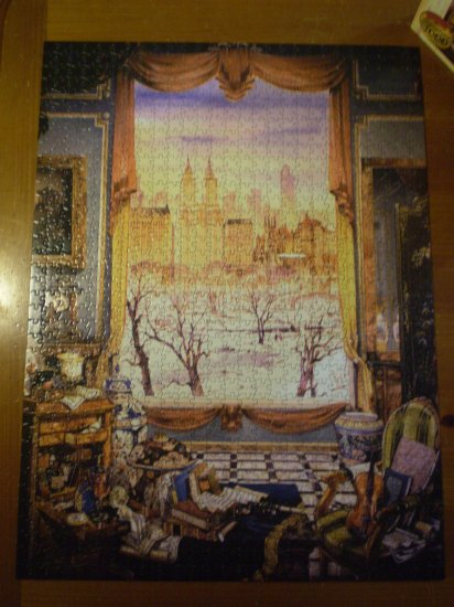 VLADIMIR STROOZER WINDOWS OF THE WORLD JIGSAW PUZZLE SIGNATURE 1000pc NEW YORK CITY CENTRAL PARK