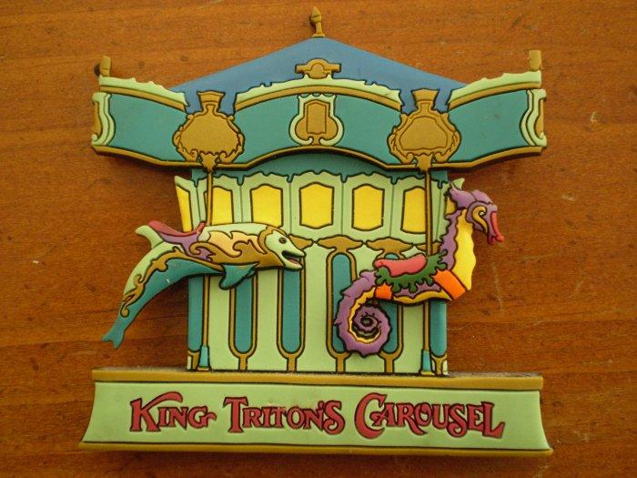 KING TRITON'S CAROUSEL MAGNET DISNEY CALIFORNIA ADVENTURE Little Mermaid