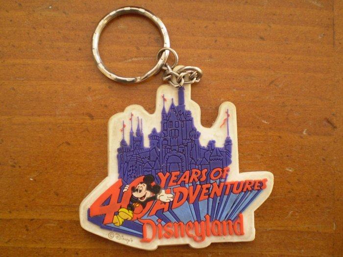40 Years of Adventure Disneyland Key Chain Mickey Disney