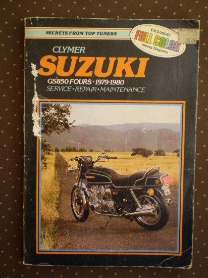 CLYMER SUZUKI GS850 FOURS 1979-1980 SERVICE REPAIR MAINTENANCE BOOK