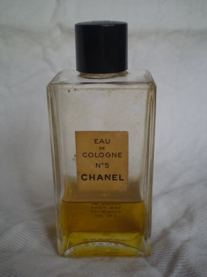 VINTAGE CHANEL No. 5 EAU DE COLOGNE 2 fl oz PERFUME BOTTLE EDC
