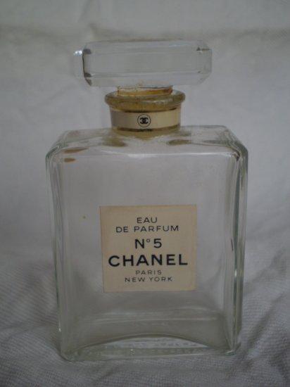 1990's CHANEL No. 5 EAU DE PARFUM EMPTY BOTTLE 1.7 fl oz